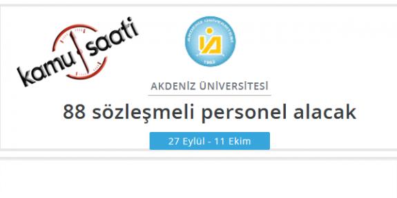 Akdeniz Üniversitesi Rektörlüğü Personel Alımı