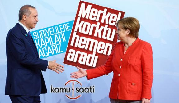 Başkan Erdoğan, Almanya Başbakanı Angelina Merkel İle Görüştü