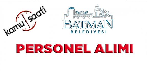 Batman Belediyesi Personel Alımı 2019