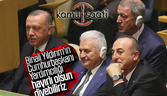 Binali Yıldırım da Başkan Erdoğan'ın Birleşmiş Milletler BM heyetinde yer aldı