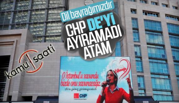 CHP Genel Merkez Panosundaki İmla Hatası