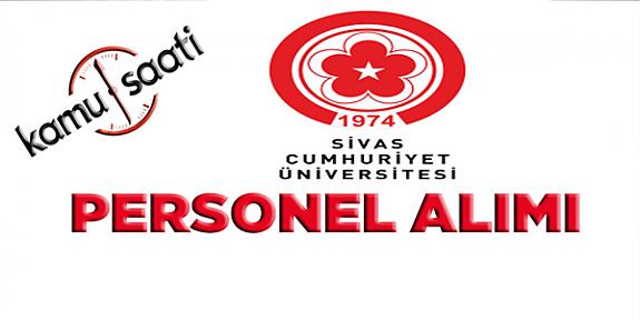 Cumhuriyet Üniversitesi Rektörlüğü Personel Alımı