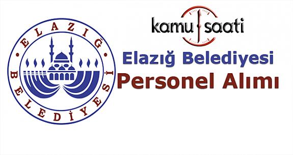 Elazığ Belediyesi Personel Alımı 2019