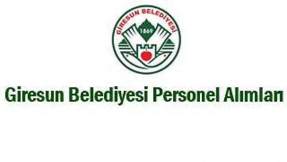 Giresun Belediyesi Personel Alımı 2019