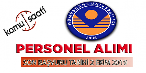 Gümüşhane Üniversitesi Rektörlüğü Personel Alımı
