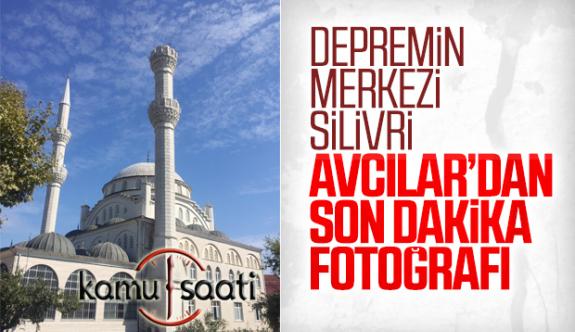 İstanbul'daki 5.8 Büyüklüğündeki Depremde Avcılar'da Cami Minaresi Yıkıldı