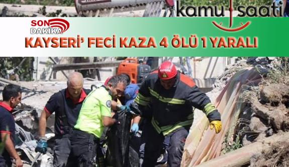 Kayseri'de Feci Kaza Freni Patlayan Kaski'ye Ait Kamyon Müstakil Evi Yıktı