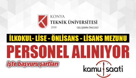 Konya Teknik Üniversitesi Rektörlüğü Personel Alımı