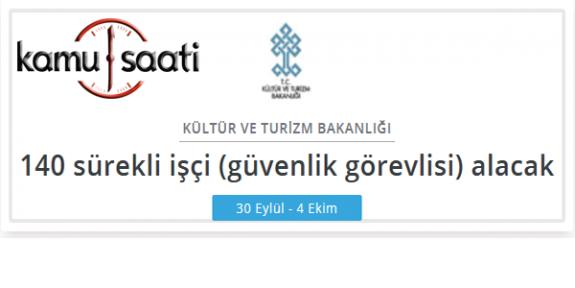 Kültür ve Turizm Bakanlığı İşçi Personel Alımı