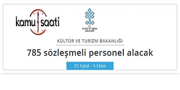 Kültür ve Turizm Bakanlığı Personel Alımı 2019
