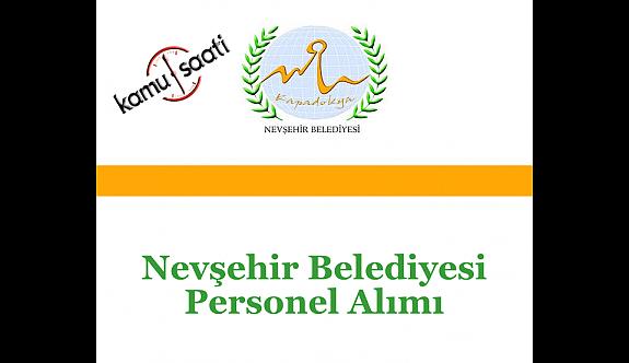 Nevşehir Belediyesi Personel Alımı 2019