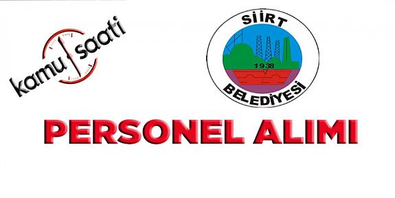 Siirt Belediyesi Personel Alımı 2019