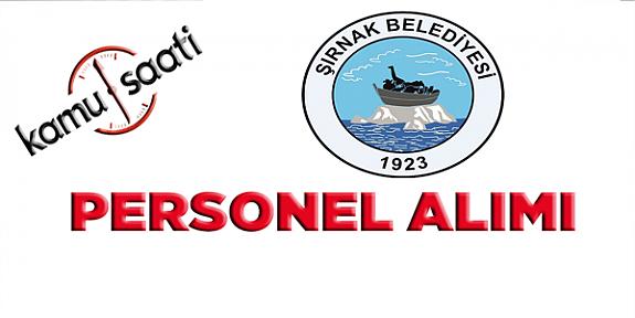 Şırnak Belediyesi Personel Alımı 2019