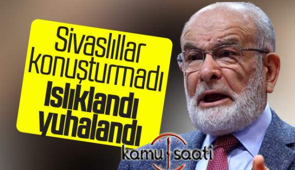 Temel Karamollaoğlu'na Sivaslılardan Islıklı Protesto