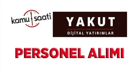 Yakut Dijital Yatırımlar Personel Alımı