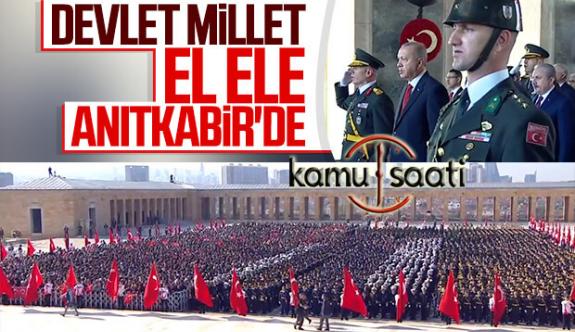 29 Ekim Cumhuriyetin 96'ncı Yılında, Devlet Erkânı Anıtkabir'de