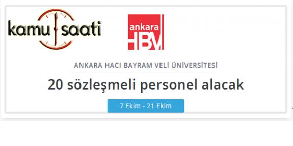 Ankara Hacı Bayram Veli Üniversitesi  Rektörlüğü Personel Alımı Yapacak