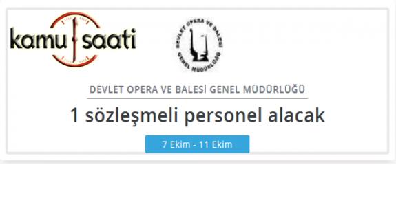 Devlet Opera ve Balesi Genel Müdürlüğü YSK Personel Alımı