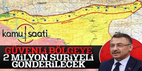 Fuat Oktay: Suriye'de Oluşturulacak Güvenli Bölgeye 2 milyon Suriyeli Gönderilecek