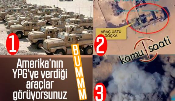 İHA ve SİHA'larımız YPG'lilerle Birlikte Amerikanın Zırhlı Araçlarını Avladı