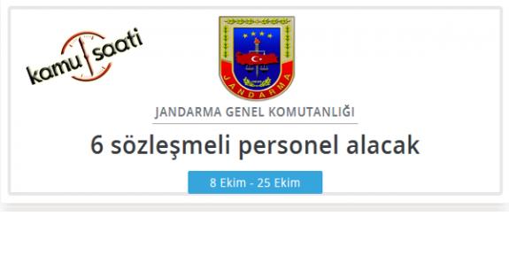 Jandarma Genel Komutanlığı Personel Alımı Yapacak