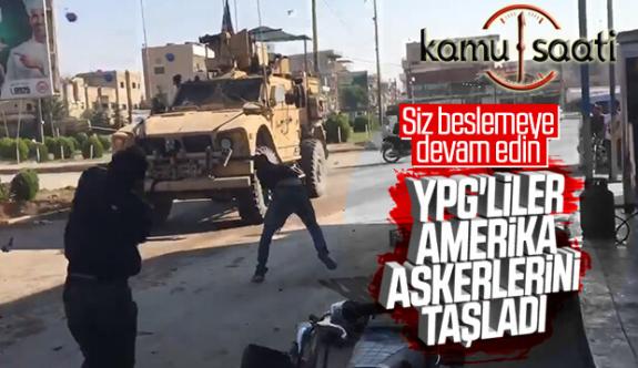 Kamışlı'da YPG'liler Amerikalı Askerleri Taşladı