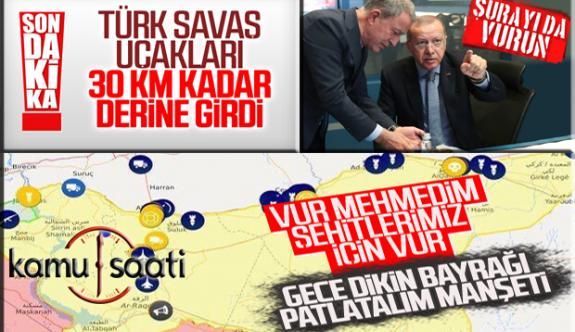 Şanlı Türk Ordusu ve Savaş Uçakları Suriye'de Destan Yazarak İlerliyor