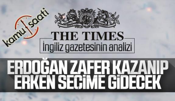 The Times'a Ülkeyi Karıştırma Derdinde Girdi, Türkiye erken seçime gidebilir