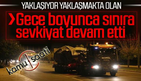 Türkiye Büyük Operasyon İçin Suriye sınırına 'obüs' sevkiyatı yapıldı