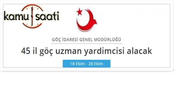 Türkiye Göç İdaresi Genel Müdürlüğü Personel Alımı