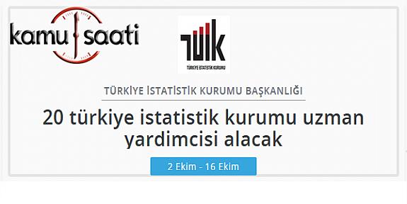 Türkiye İstatistik Kurumu Uzman yardımcısı alımı
