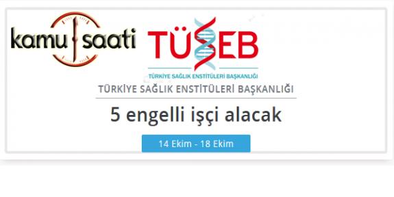 Türkiye Sağlık Enstitüleri Başkanlığı Personel Alımı Yapacak