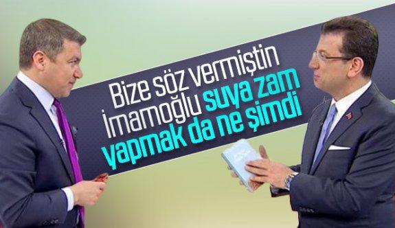İsmail Küçükkaya, İstanbul'daki Suya Yapılan  Zamma Fox Tv de Yaptığı Proğram da Tepkiler Yağdı