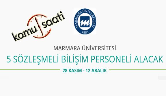 Marmara Üniversitesi 5 Sözleşmeli Personel Alımı Yapacak