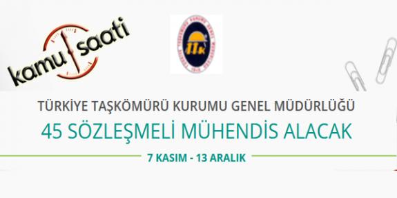 Türkiye Taş Kömürü Kurumu 45 Sözleşmeli Mühendis Alımı Yapacak