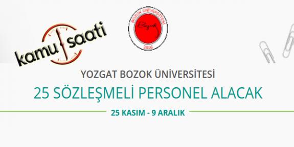 Yozgat Bozok Üniversitesi 25 Sözleşmeli Personel Alacak