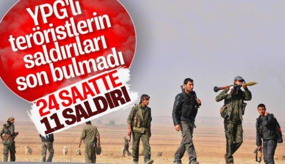 YPG'li Teröristlerin Saldırıları Son Bulmadı