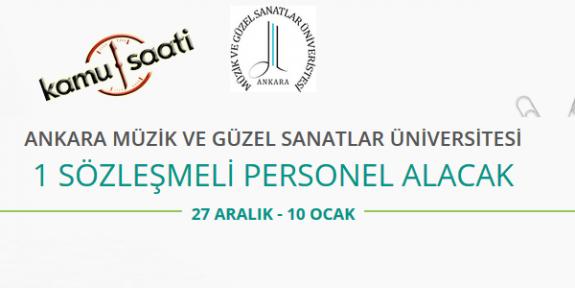 Ankara Müzik ve Güzel Sanatlar Üniversitesi İşçi Personel Alımı 2020