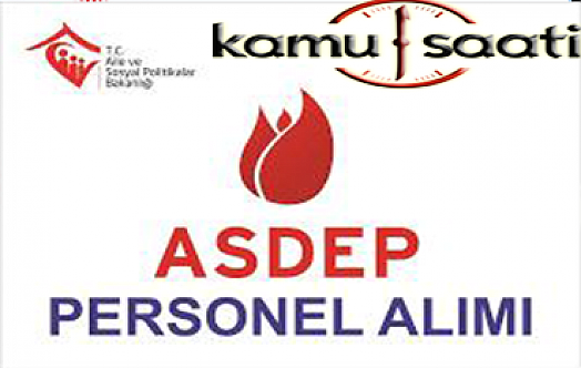 Çalışma Bakanlığı, 1000 ASDEP Personel Alımı İşe Alım İlanı