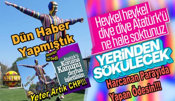 CHP'li Belediye Skandal Atatürk Heykelini Kaldırma Kararı Aldı