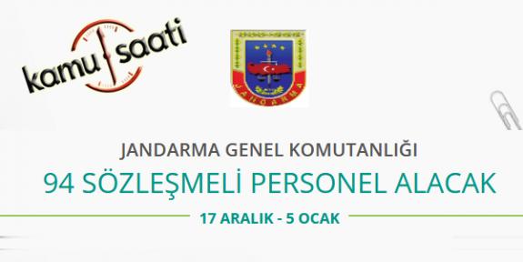 Jandarma Genel Komutanlığı 94 Sözleşmeli Personel Alımı Yapacak