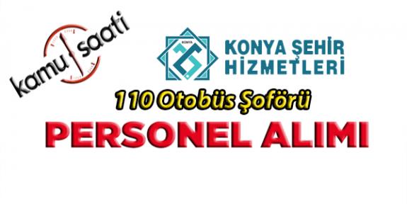 Konya Şehir Hizmetleri 110 İşçi Personel Alımı