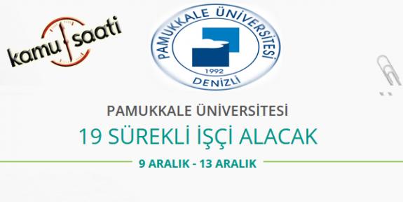 Pamukkale Üniversitesi 19 Temizlik Personeli Alımı Yapacak