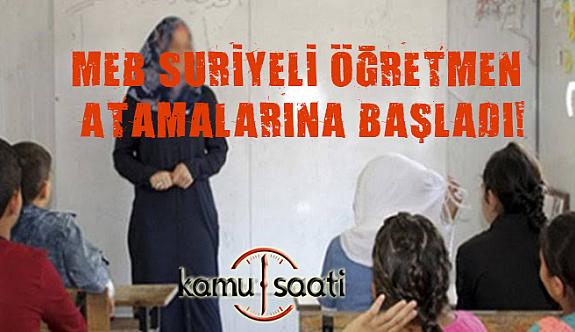 Son Dakika! MEB'den 830 Suriyeli Öğretmen Ataması Kararı