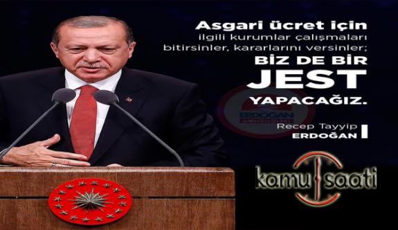 Son Dakika; Başkan Recep Tayyip Erdoğan'dan 2020 Yılı Asgari Ücret Açıklaması