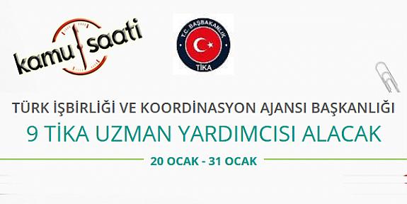 Türk İşbirliği ve Koordinasyon Ajansı Başkanlığı  Tika 9 Uzman Yardımcısı Personel Alımı