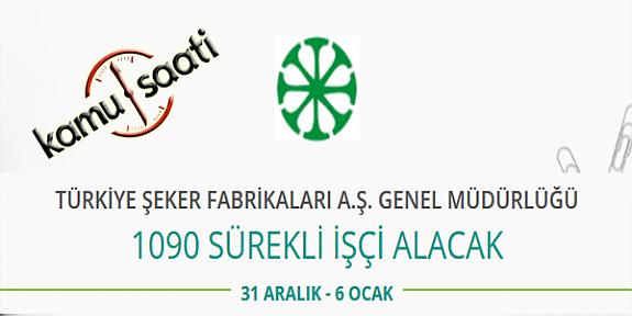 Türkiye Şeker Fabrikaları Genel Müdürlüğü Personel Alımı 2020