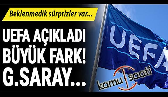 UEFA resmen açıkladı! Galatasaray'dan Fenerbahçe'ye büyük fark