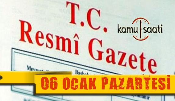 06 Ocak 2020 Pazartesi TC Resmi Gazete Kararları