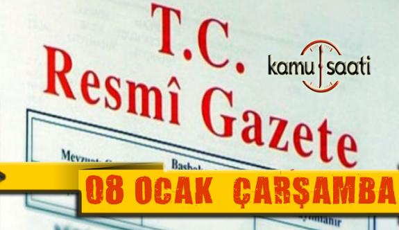 08 Ocak 2020 Çarşamba TC Resmi Gazete Kararları